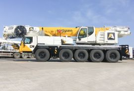 A new mobile telescopic crane LTM 1095-5.1 for the company Aertssen